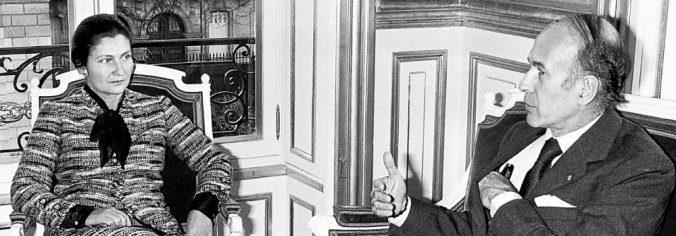 Valéry Loi du 30 juin 1975 Giscard D Estaing et Simone Veil